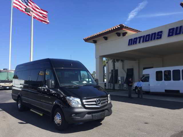 A photo of a Black Sprinter Passenger Van, Bridal Party, Clearwater, Florida
