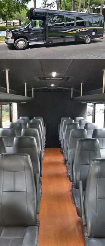 Photo of the Interior of a 20 Passenger Bus, Concert at Ruth Eckerd Hall, Clearwater, Florida