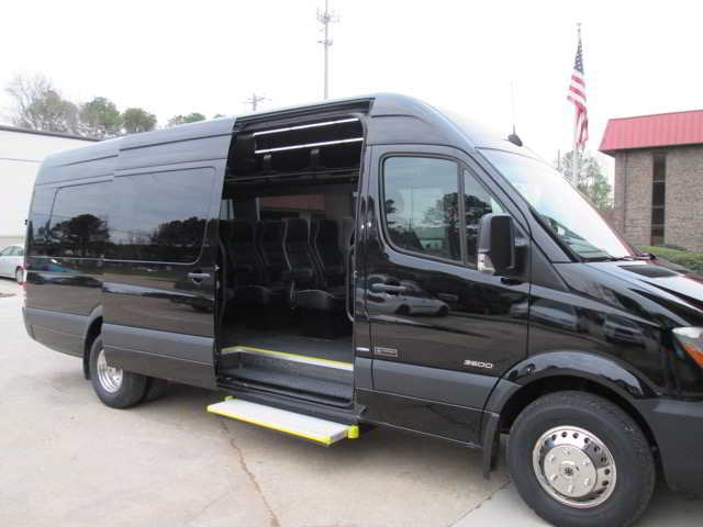 Photo of a Party Bus Black Exterior Executive Transportation St. Pete Clearwater Airport