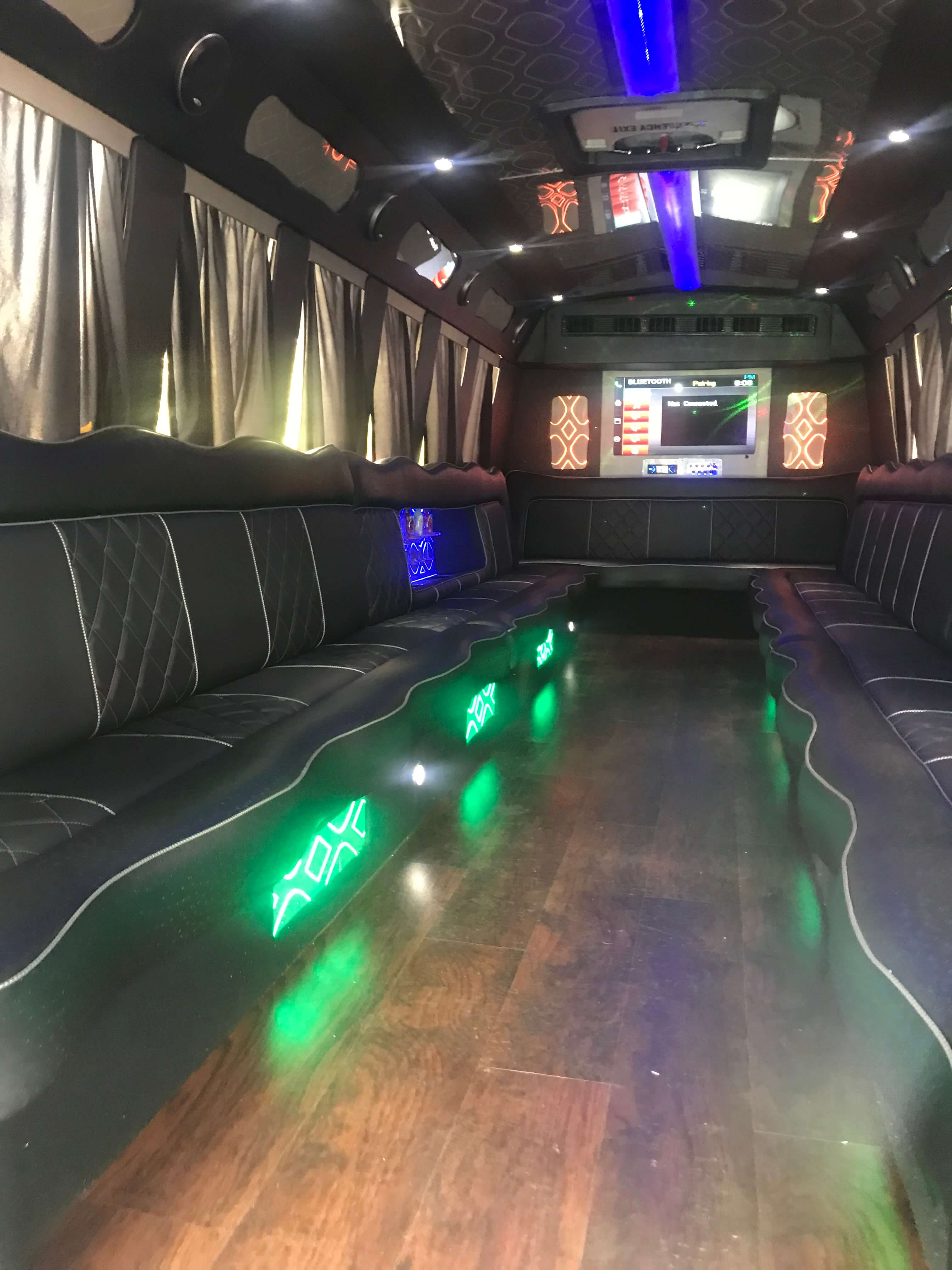 Interior Photo of a Party Bus, 20 Passenger. Clearwater Social Brewing Company Clearwater Beach, FL 33767