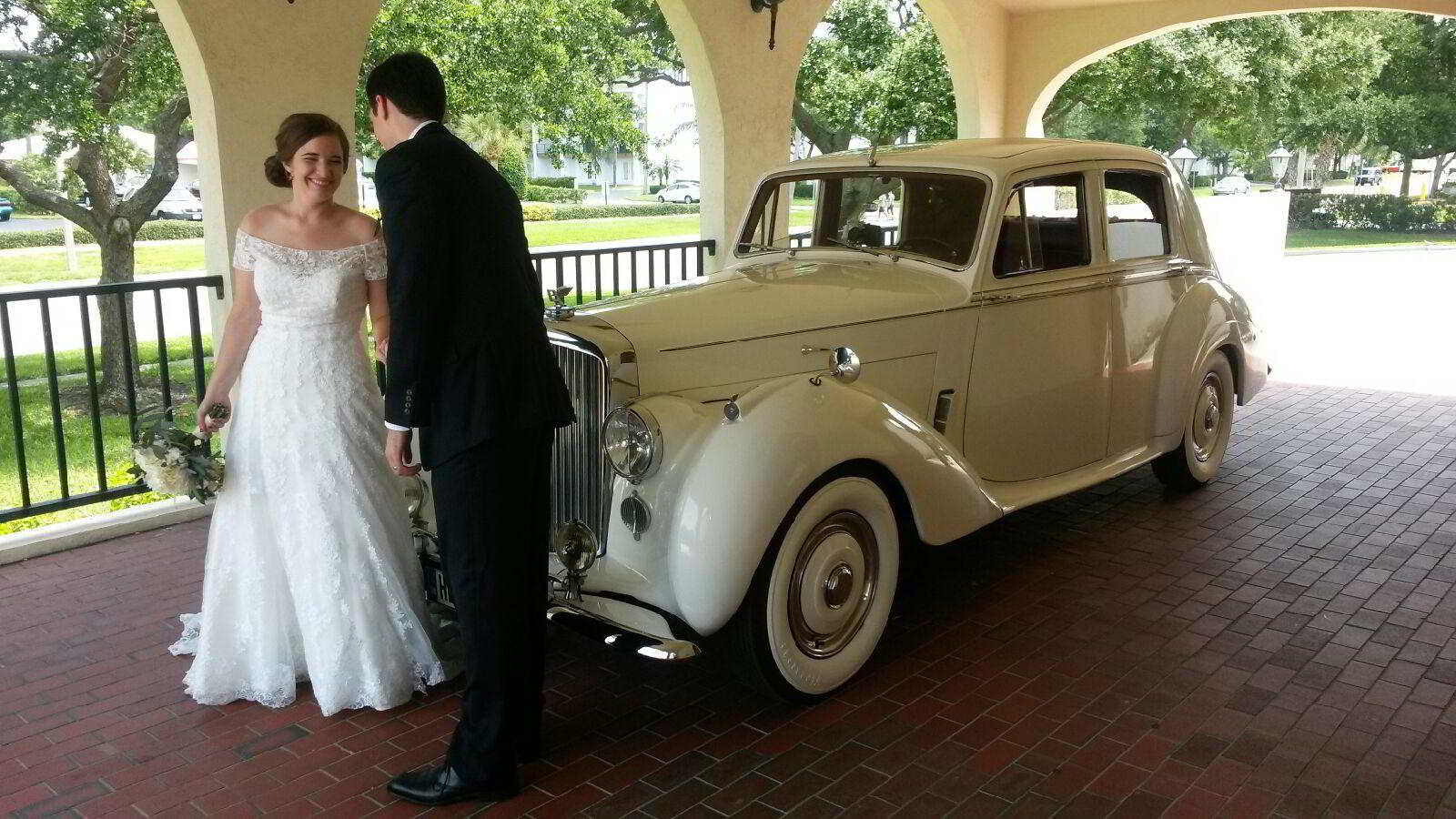 Rolls Royce Wedding Transportation Rental Exterior, Clearwater, Florida