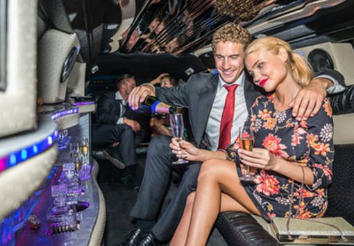 A night on the town! AllPro Towncar is chauffeuring a party in our stretch limo to a dinner cruise in Clearwater Beach, Florida. These customers are enjoying our Chrysler 300 Super Stretch Limousine.